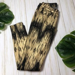 GUESS BY MARCIANO metallic gold and black jeans